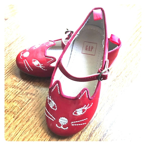 NWT Baby Gap Girls Size 5 6 7 or 8 Sparkle Kitty Cat Dress Shoes Mary Janes